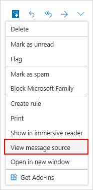 Message source window selection