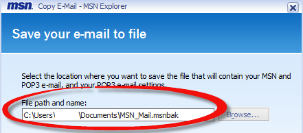 Save your email to file