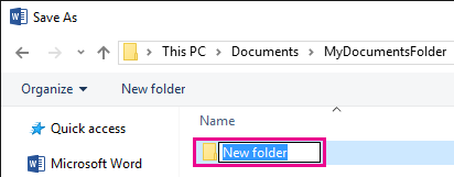 Rename the new folder.