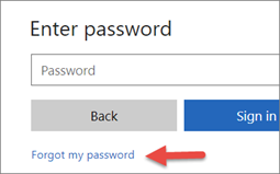 Choose Forgot my password