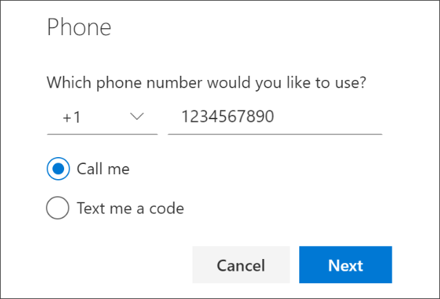 Add phone number and choose phone calls