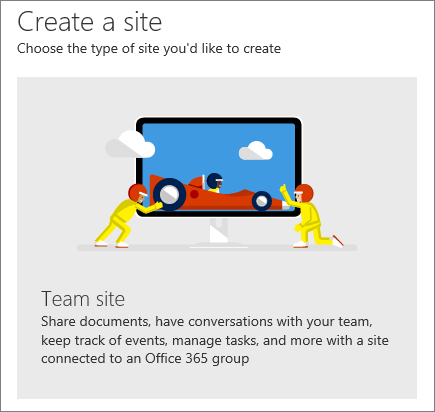SharePoint Office 365 Create a site