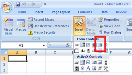 How to use the forms controls on a worksheet in Excel - Office Support