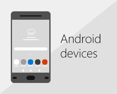 Click to set up Office and email on Android devices