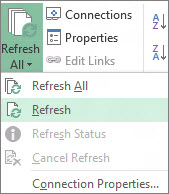 Refresh Data Connection
