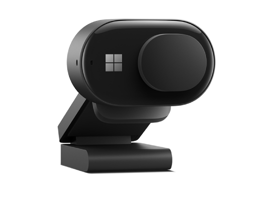 Microsoft Modern Webcam with the privacy shutter covering the camera lens