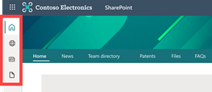 Image of the SharePoint app bar