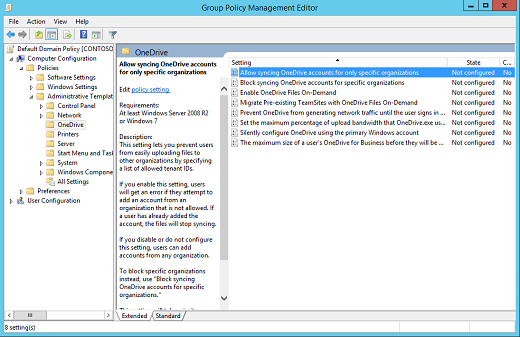 Computer Configuration policies in the Group Policy Management Editor