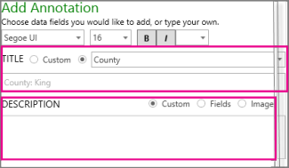 Add an annotation to my 3D Map - Excel