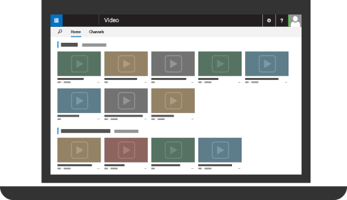 Office 365 Video with several videos uploaded