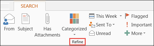 Narrow your search results with the refine group options