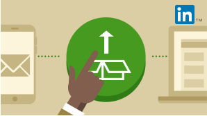 Shows a card with an illustration depicting a hand pointing to a round button with the Office logo. Represents the course called Office 365 Deployment.