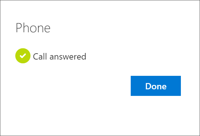Success notification, connecting the phone number, the choice to receive phone calls, and your account
