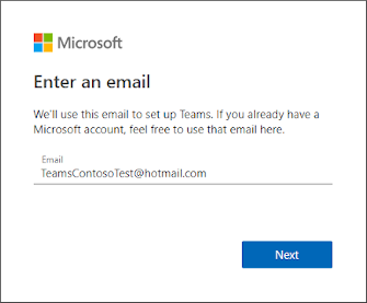 Enter an email address dialog box