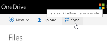 OneDrive for Business Sync button highlighted