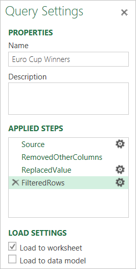 Query Settings Example