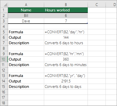 Convert Times Excel