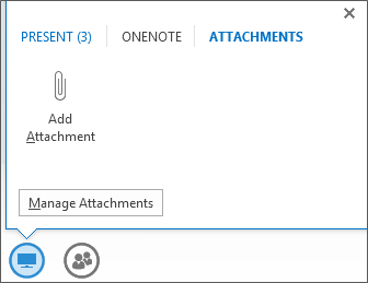 Screenshot of adding an attachment