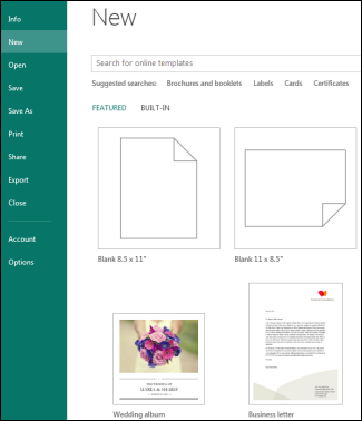 templates for publisher