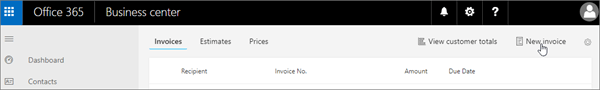 Invoicing instructions