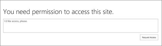 SPO Access denied dialog box.