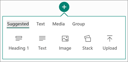 Screenshot of the Insert Content option.