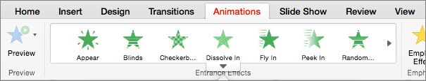 Animations tab