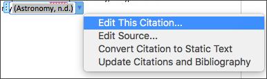 Edit Citations