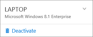 Screen shot of Deactivate for O365 business install