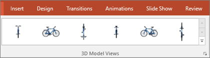 The 3D Model VIews gallery gives you some handy presets to arrange the view of your 3D image
