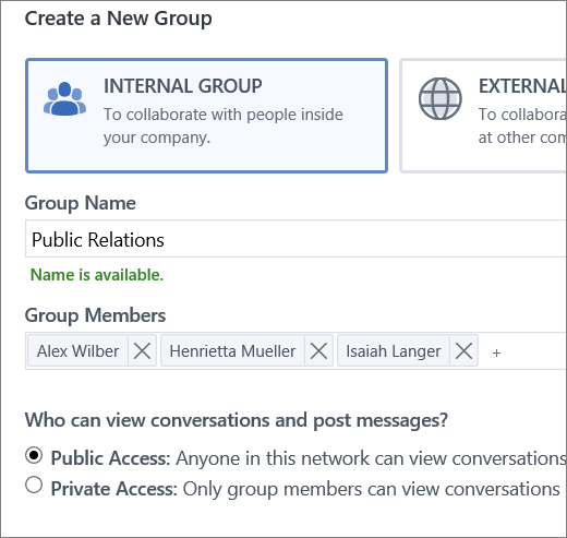 Create a group
