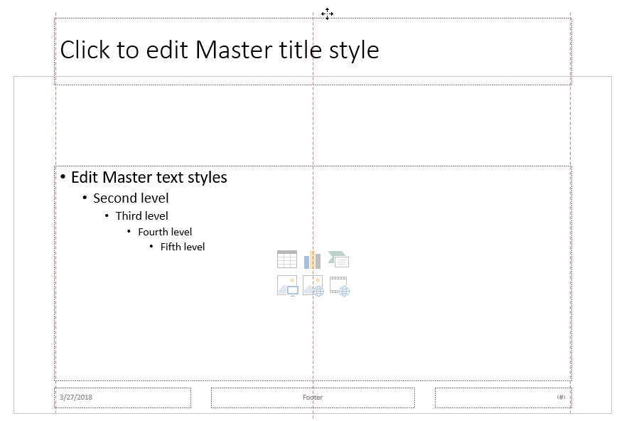 Drag the Title placeholder upward, and drop it outside the boundary of the visible slide