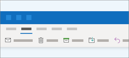The ribbon in Outlook now has fewer buttons