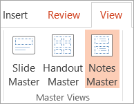 Notes Master view