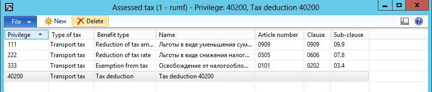 This images shows you how to create a tax deduction code.