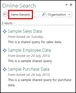 Online Search pane in Power Query