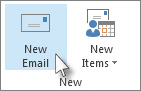 click new email