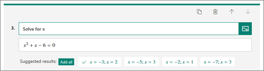 Incorrect Answers options
