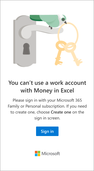 Sign in with a Microsoft 365 Family or Personal subscription.