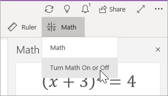 Turn Math On or Off