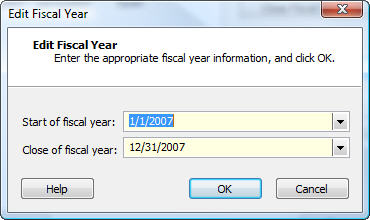 Edit Fiscal Year