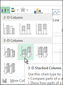 3-D Stacked Column
