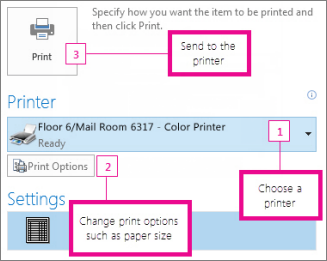Print An Email Message Contact Or Calendar Item In Outlook
