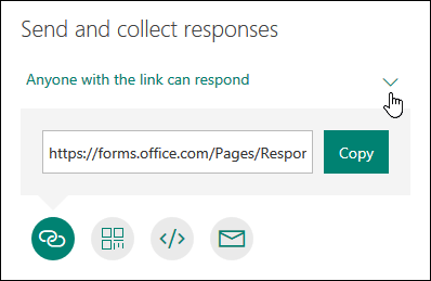 Send a form and collect responses - Office Support