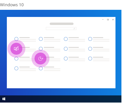 Personalization and Ease of Access in Windows 10 Settings.