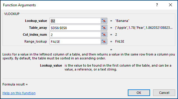 Example of the Formula Wizard dialog.