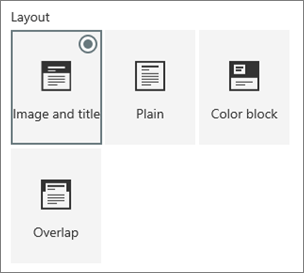 Options for page layouts