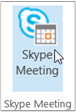 Skype Meeting button