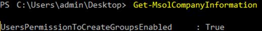 UsersPermissionToCreateGroupsEnabled setting