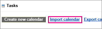 google calendar tasks - import calendar